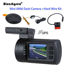 Mini 0906 Dual Lens Car DVR GPS Dash Camera HD 1080P Night Vision + Hardwire Kit