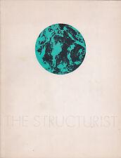 The Structurist, n. 11/1971. Issue on an Organic Art. Lloyd Wright, van Doesburg