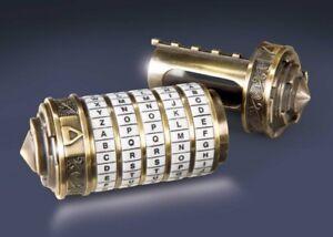 DA VINCI CODE réplique 1/1 CRYPTEX métal finition OR avec code secret 010882