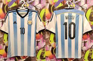 Argentina Soccer National Team Messi #10 Home AFA Football Shirt Jersey Mens M