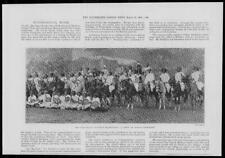 1901 Antique Print - AFRICA Somaliland Tribesmen Montague Fowler Horses (003)