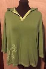 Just My Size Women's Pullover Hoodie Green Size 16W Good Condition