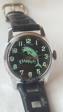 Vintage Flipper the Dolphin tv character watch 60s Bradley wind up Medium size