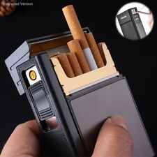 2-in-1 cigarette case USB rechargeable lighter for smoking flameless electronic