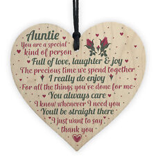 Special Sister Auntie Wood Plaque Sign Birthday Thank You Keepsake Gift Present