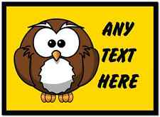 Owl Cartoon Personalised Computer Mouse Mat