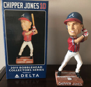 Chipper Jones  2011 Collectors Series Delta Bobble Head New in box