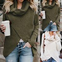 Womens Ladies Winter Warm Long Sleeve Sweater Jumper Sweatshirt Pullover Tops AB