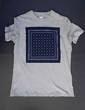 OAMC Over All Master Cloth S/S 2014 Gray Graphic Navy Panel T-Shirt Supreme (XL)