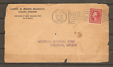 1912 Cover Front Salem OR Flag Cancel Ladd & Bush Bankers