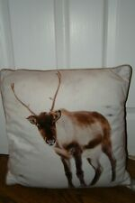 White Christmas Snow Reindeer Cushion Measurement:16.5 x 16.5 Inches Approx New!