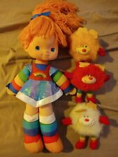 Rainbow Brite Vintage 1983 Hallmark Doll With 3 Taco Bell Sprite Plush Dolls