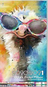 DateWorks Color Splash Connie Haley 2020-2021 Pocket Planner 6.69''X3.63'' w