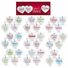 Herz aus Keramik mit Spruch von FORMANO verschiedene Sprüche  Art. Nr.749130