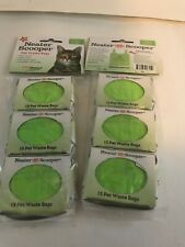 Lot Of (6) NEATER PET BRANDS Scooper Refill Bags Green Includes 90 Scented Bags