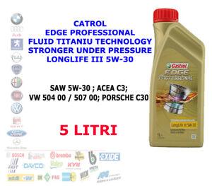 5 LT OLIO MOTORE CASTROL EDGE PROFESSIONAL LONGLIFE III 5W30 ACEA C3