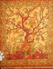 Tree Of Life Cotton Twin Queen Printed Wall Tapestry Yellow Black WallArt Poster