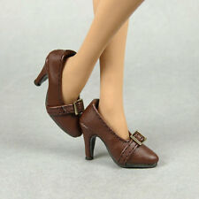 1/6 Phicen, TBLeague, Hot Toys, Kumik, NT - Female Brown Leather Heel Shoes