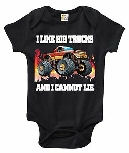 Baby Bodysuit - I Like Big Trucks and I Cannot Lie Baby Clothes for Infants