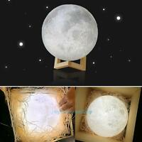 3D Moon Lamp USB LED Night  Light Moonlight Touch Sensor Color Changing Gift