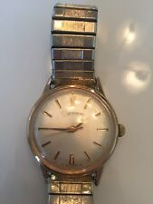 Vintage Lucien Piccard Dufonte Manual Wind Watch! GILTRON Gold-Plated!