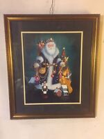 """Print Gorgeous""""Christmas Past""""artist Hand Signed 24""""x19"""",12pix4detail.MAKE OFFER"""
