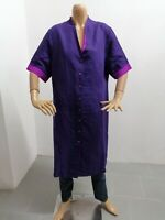 Vestitino Gianfranco Ferre Donna Taglia Size 52 Dress Woman Vestito Lino 7663