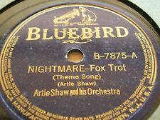 78 rpm-ARTIE SHAW - Nightmare - Non stop flight-  BLUEBIRD 7875