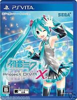 Used PS VITA Hatsune Miku -Project DIVA- X SONY PLAYSTATION JAPANESE  IMPORT