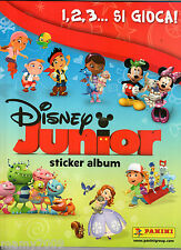 ALBUM FIGURINE PANINI=DISNEY JUNIOR 1,2,3...SI GIOCA!= COMPLETO -1