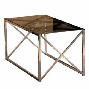 Ebern Designs Minkler Couchtisch Sofatisch Wohnzimmertisch Beistelltisch Chrom