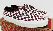 NIB VANS Men's Authentic Port Royale Burgundy Checkerboard Low Sneakers Shoes