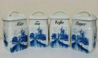 Vintage Inge Delft Blue 4 Piece Canister Set 3862 - Germany