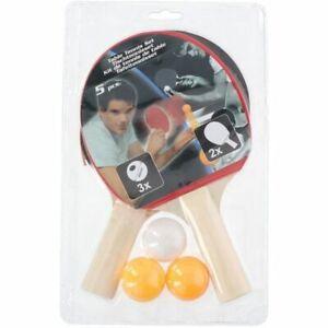 Kit de tennis de table - 5pcs - ping pong - 2 raquettes - 3 balles
