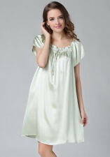 Pure Silk Short Sleeves Chemise One Size 9108