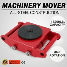 3x3 Heavy Duty Machine Dolly Skate Machinery Roller Mover Cargo Trolley 6 Ton vd