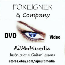 Custom Guitar Lessons, Learn Foriegner & Company - Dvd Video