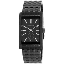 Wittnauer Black Dial Stainless Steel Men's Watch WN3069