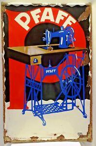 PFAFF SEWING MACHINE ADVERTISING MADE IN GERMANY VINTAGE PORCELAIN ENAMEL SIGN