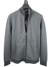 BOSS BLACK Sweat-Jacke FOSSA in XXL grau aus Jersey-Baumwolle