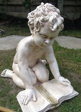 Stone Boy Large Ornament Sculpture Occasion Remembrance Special Gift Memorial