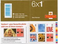 2005 6 x 1st Love/greetings  booklet sg QA1 cat £15