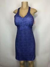 ZX Outdoor Purple Marled Athletic Tennis Dress Women Size L Padded Sleeveless Dp