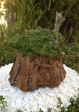 Miniature Dollhouse Fairy Garden ~ Fairy Gnome Tree House Cottage ~ New