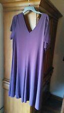 Roaman's Swing Dress 18/20 L PURPLE  color NWOT Retails $32
