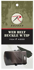 Black Belt Buckle With Tip For Web Belts Military BDU Belt Rothco 4300