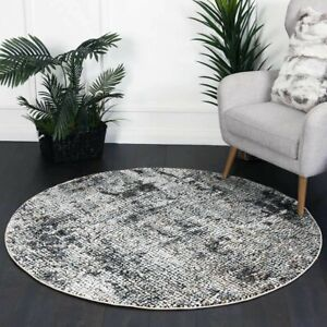 Kirkham Distressed Mosaic Style Transitional Round Rug - 4 Sizes **FREE DELIVERY