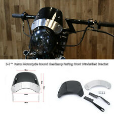 5-7''Motorcycle Round Headlamp Fairing Front Windshield  Cover Bracket Universal