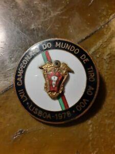 World Championship enamel metal participant medal Tiro ao Voo 1978 Lisboa