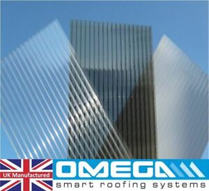 POLYCARBONATE ROOFING SHEETS - 10MM & 16MM - CLEAR, BRONZE & OPAL - MANY SIZES
